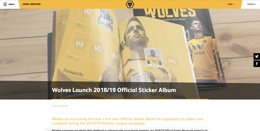 Wolves Sticker Album